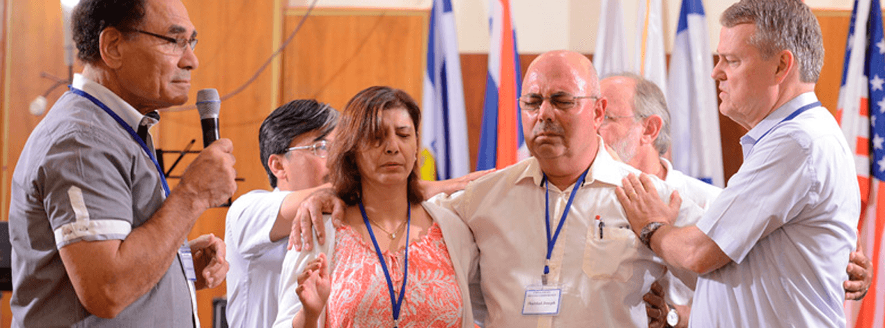 Prayer for Arab Christians at a conference