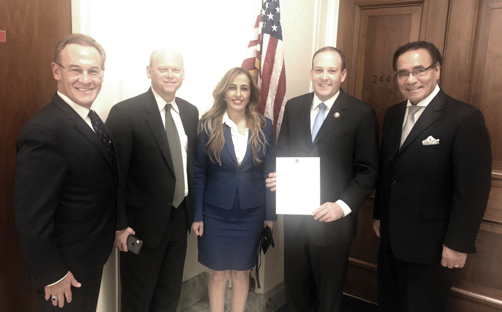 0319 - Israeli delegation with Congressman Zeldin