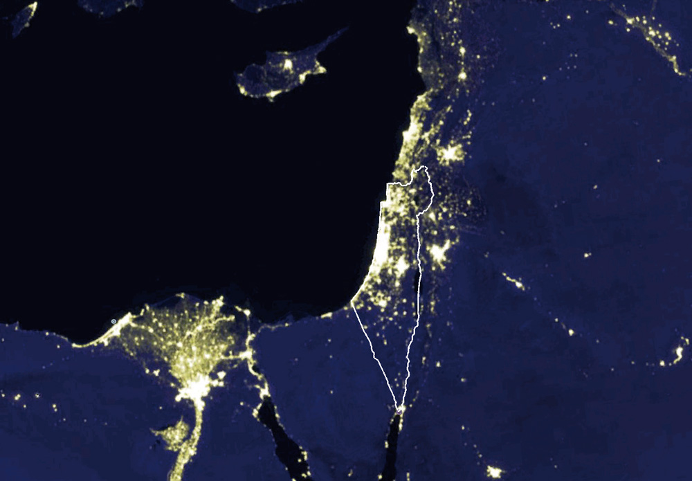 0112-Israel-night-map